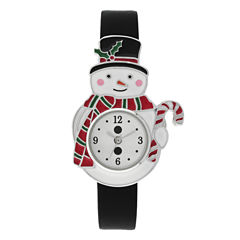 Mixit™ Womens Black Strap Watch