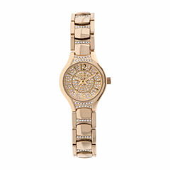 Elgin Womens Gold Tone Bracelet Watch-Eg10007g