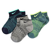 Nike® 3-pk. Graphics Low Cut Socks - Boys
