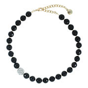 ROX by Alexa Faceted Black Quartz Necklace