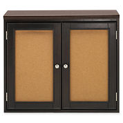 Create Your Space 2-Door Corkboard Storage Cubby
