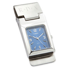 Hinged Money Clip with Quartz Movement Watch