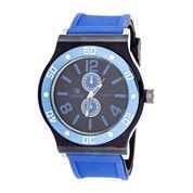 Zunammy® Mens Blue Silicone Strap Sport Watch