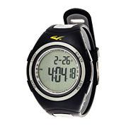 Everlast® Pedometer Gray/Black Silicone Strap Sport Watch