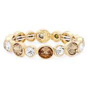 Monet® Champagne Crystal Gold Stretch Bracelet