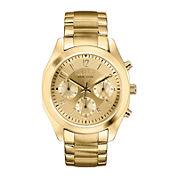 Caravelle New York® Womens Gold-Tone Dial Bracelet Chronograph Watch 44L118