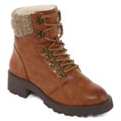 Combat Boots Brown Women's Boots for Shoes - JCPenney