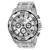 Invicta Mens Silver Tone Bracelet Watch-22317