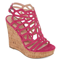 Style Charles Apple Womens Wedge Sandals