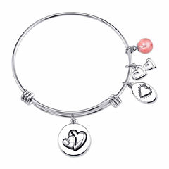 Footnotes Stainless Steel Bangle Bracelet
