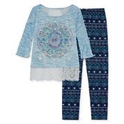 Knit Works Girls Legging Set-Big Kid