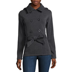 Ymi Belted Fleece Jacket-Juniors