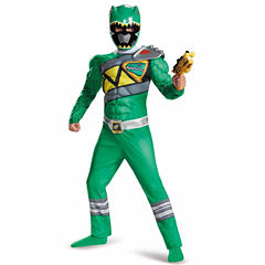 Power Rangers Dino Charge: Boys Green Ranger Muscle Costume - S (4-6)
