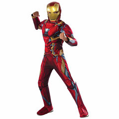 Marvel's Captain America: Civil War Deluxe Iron Man Muscle Chest Costume For Kids - Small