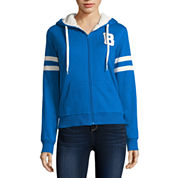 Flirtitude Long Sleeve Cotton Blend Hoodie Juniors