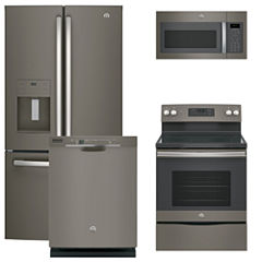 GE® 4-pc. Electric Kitchen Package- Slate