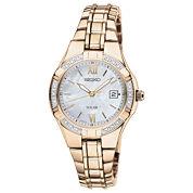 Seiko® Womens Diamond-Accent Solar Watch SUT070