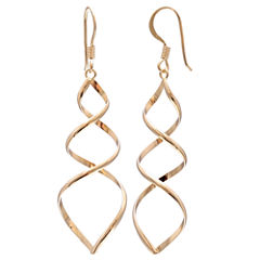 Gold Reflection 18K Gold Over Brass Drop Earrings