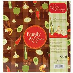 3-Ring Family Recipes Scrapbook Kit