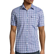 Claiborne® Short-Sleeve Slim-Fit Woven Shirt
