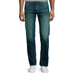 Arizona Slim Straight Destructed Jeans