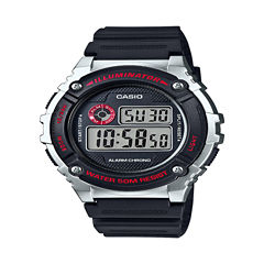 Casio Table Mens Black Strap Watch-W216h-1cvpb