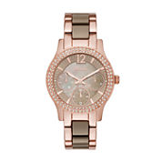 Relic Womens Rose Goldtone Bracelet Watch-Zr15878