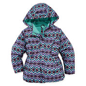 Okie Dokie Girls Midweight Puffer Jacket-Toddler