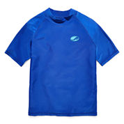 Arizona Boys Solid Rash Guard-Preschool