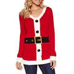 Tiara International Long Sleeve V Neck Pullover Sweater
