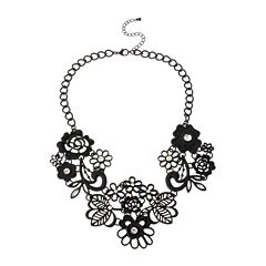 Mixit Black Statement Necklace