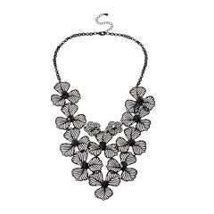 Mixit™ Black Wildflower Lace Necklace