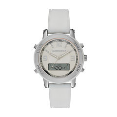 Skechers® Womens White Silicone Analog/Digital Chronograph Watch