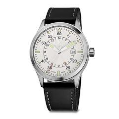 SWIZA Siruz Mens White Dial Black Leather Strap Watch