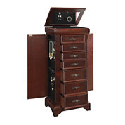 Dark Brown Jewelry Armoire