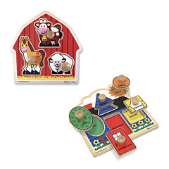 Melissa & Doug® Jumbo Knob Puzzle Bundle