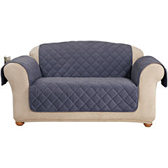 SURE FIT® Memory Foam Comfort Pet-Friendly Loveseat Slipcover