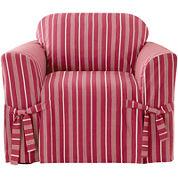 SURE FIT® Grain Sack Stripe 1-pc. Chair Slipcover
