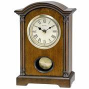 Bulova White Mantel Clock-B7466