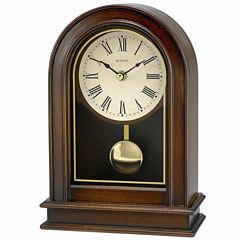 Bulova White Table Clock-B7467