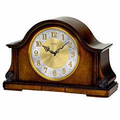 Bulova White Mantel Clock-B1975