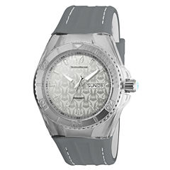 Techno Marine Mens Gray Strap Watch-Tm-115153