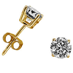 3/8 CT. T.W. Round White Diamond 14K Gold Stud Earrings