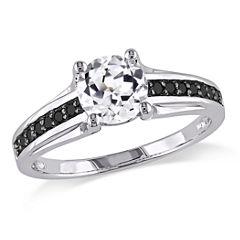 Midnight Black Diamond 1/6 CT. T.W. Color-Enhanced Black Diamond Engagement Ring