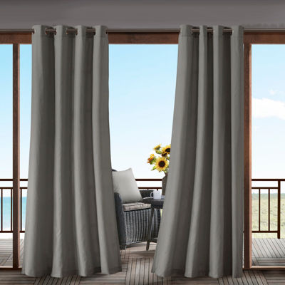 Madison Park Mission Grommet Top Outdoor Curtain