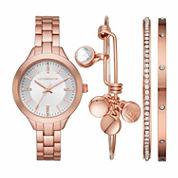 Liz Claiborne Womens Rose Goldtone Bracelet Watch-Lc9043