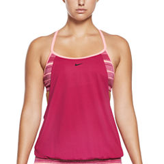 Nike Stripe Tankini Swimsuit Top