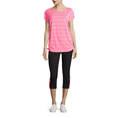 Made For Life Short Sleeve Side Tie Knit Tee or Knit Capris
