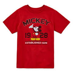 Disney Boys Mickey Mouse Classic Graphic T-Shirt - Big Kid