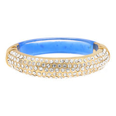 10021 | Kara Ross Pavé Crystal & Blue Resin Cuffed Bracelet